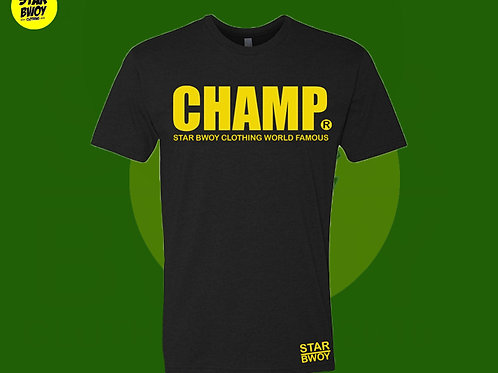 Champ T-Shirt Black/Yellow