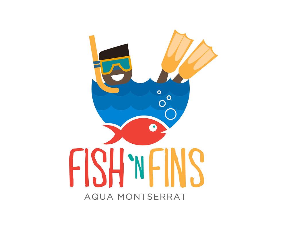 Fish 'N Fins Logo