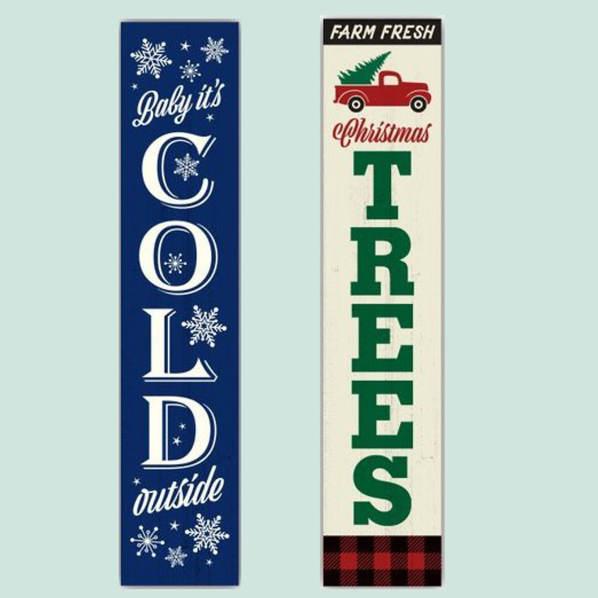 Holiday/Winter Reversible Porch Sign!