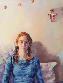 Self Portrait after Manet's Dead Christ