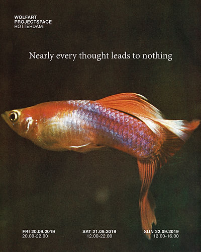 Poster Nearly Every Thought Leads to Nothing, Designed by Hendrick van Dijk