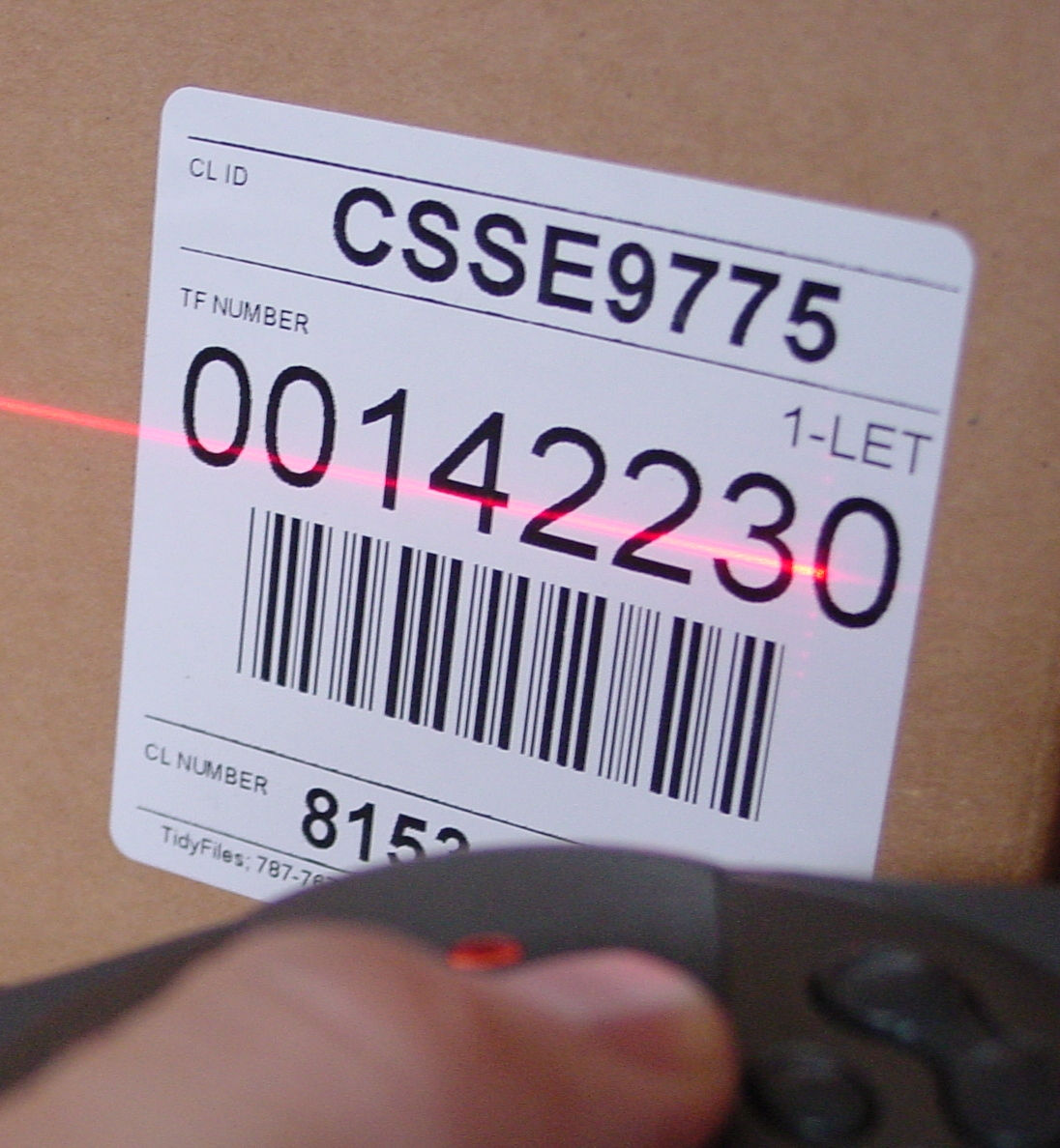 Scannning Barcode closeup