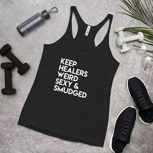 Women's Racerback Tank/ Keep Healers Weird