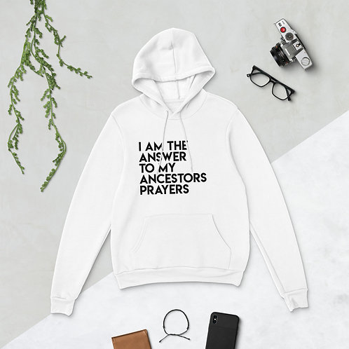 Unisex hoodie/ I AM THE ANSWER