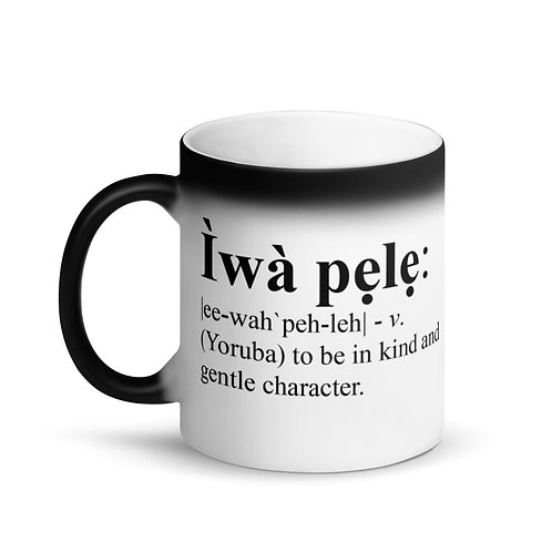 Matte Black Magic Mug/Iwa Pele