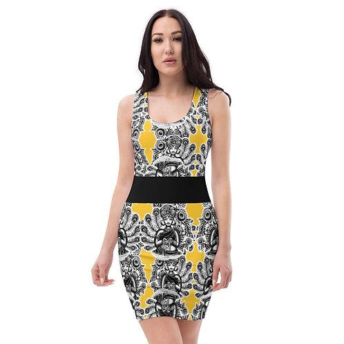 Oshun /Hidden Bee Sublimation,4-way stretch, Dress
