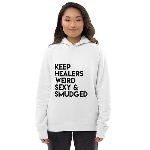 Unisex pullover hoodie/Keep Healers...