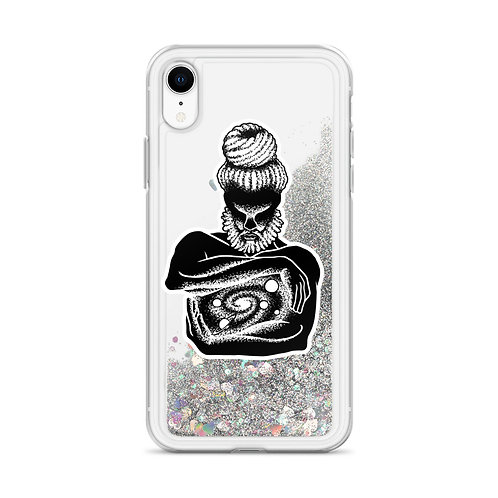 Obatala Orisha Liquid Glitter Phone Case