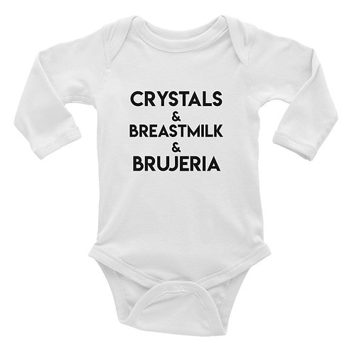 Infant Long Sleeve Bodysuit/Crystals&Breastmilk...