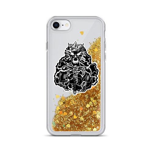 Orisha Chango Liquid Glitter Phone Case