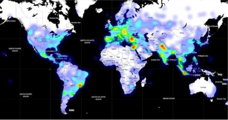 Trickbot banking trojan prevalence, April 2020