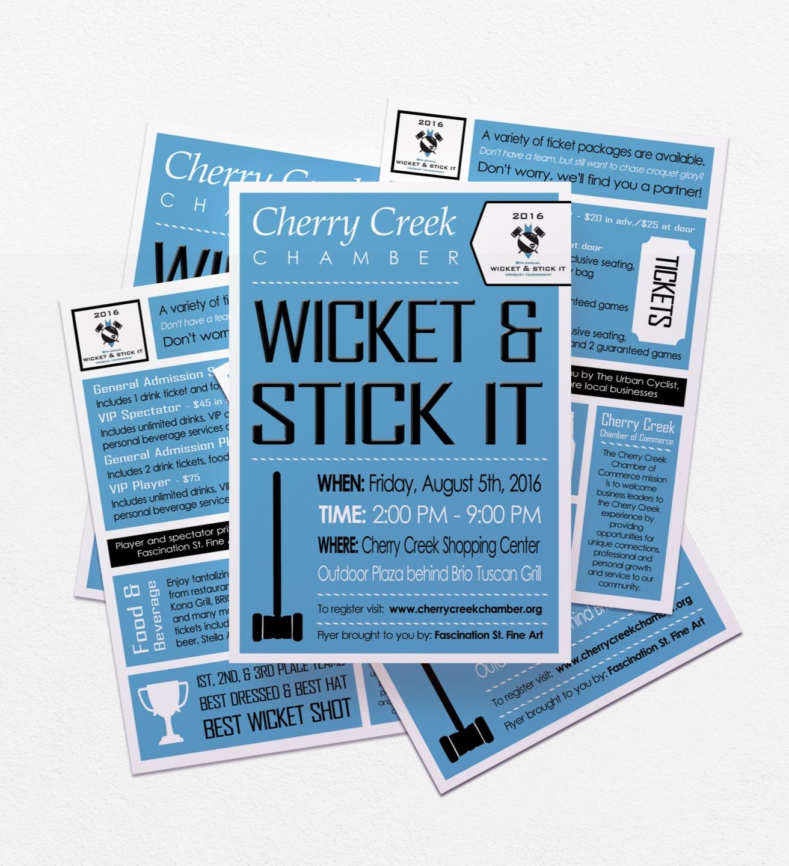 Wicket & Stick It Event Postcard