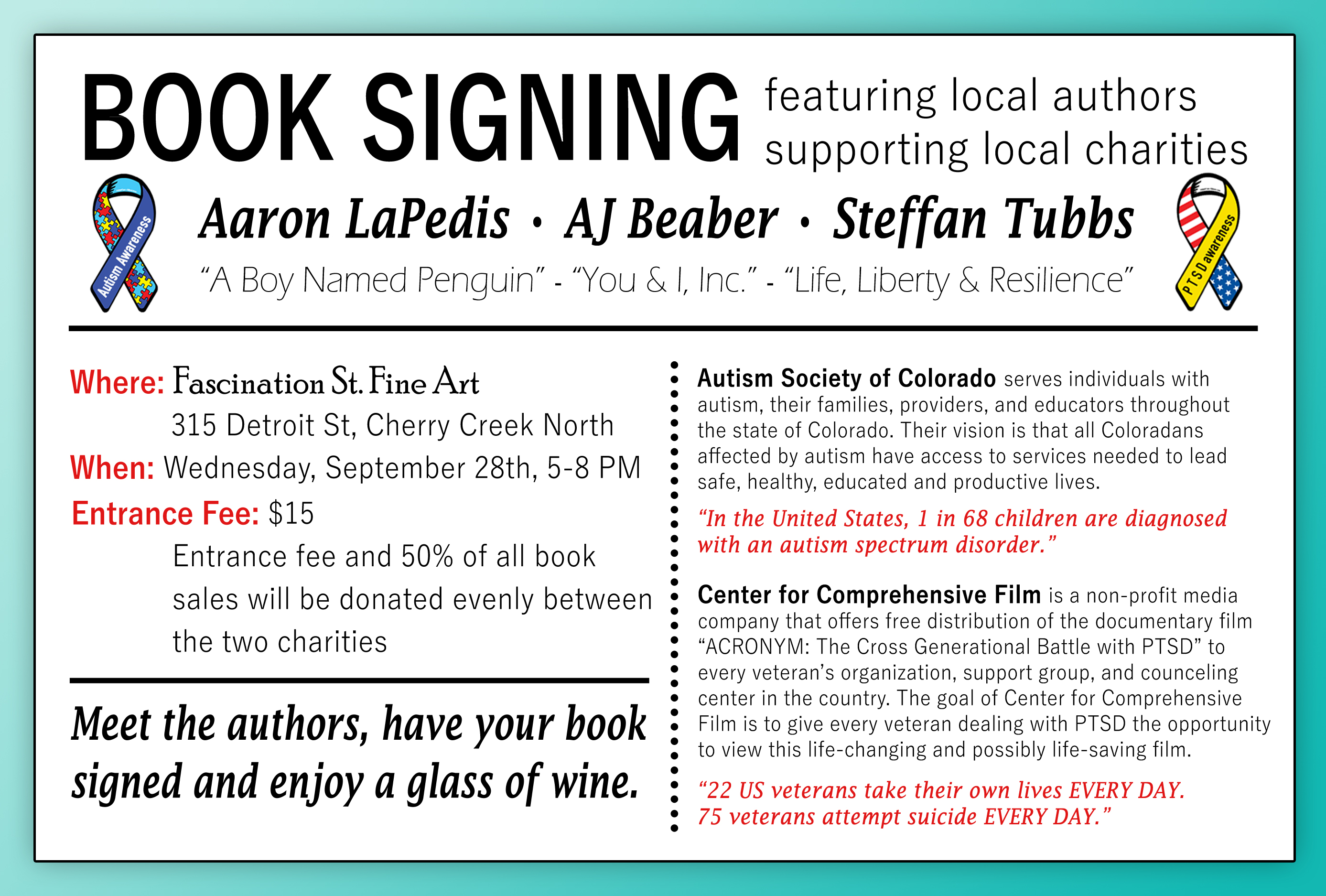Book Signing Event - Back