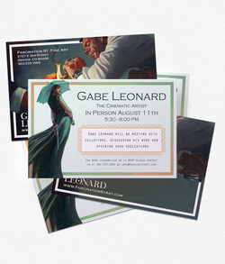 Gabe Leonard Event Postcard