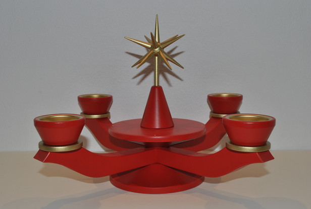 Adventsleuchter rot