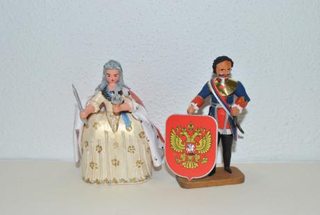 Zarin Katharina die Große und Zar Peter.