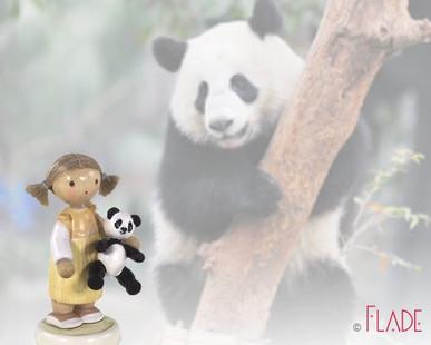 Mädchen mit Panda 5258