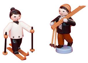 Skifahrer 2 tlg.