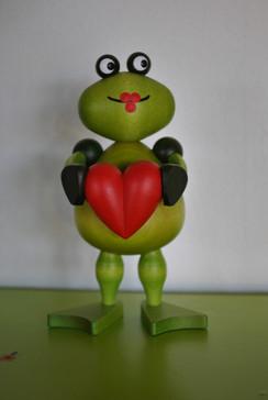 Frosch veriebt