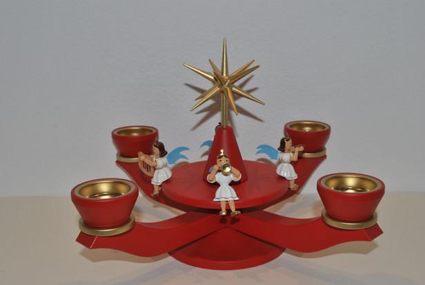 Adventsleuchter mit Engeln