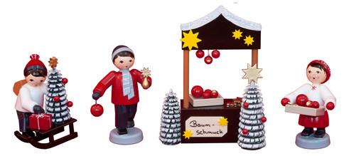 Weihnachtsbaumschmuckverkäufer