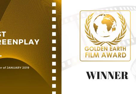 Golden Earth Film Award's Best Screenplay winner of January 2019 Edition