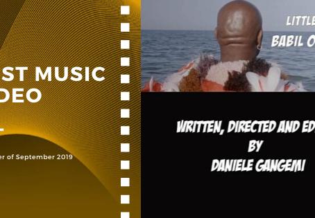 Golden Earth Film Award's Best Music Video winner of September 2019 Edition