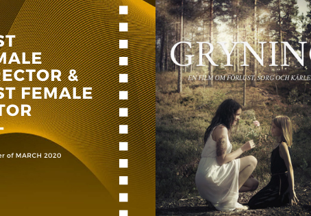 Golden Earth Film Award's Best Female Director & Best Female Actor winner of March 2020 Edition
