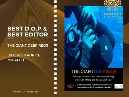 Golden Earth Film Award's Best D.O.P and Best Editor winner of December 2019 Edition