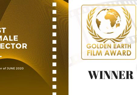 Golden Earth Film Award's Best Female Director winner of June 2020 Edition