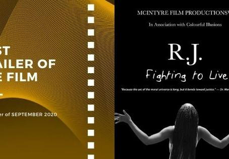 Golden Earth Film Award's Best Trailer of the Film winner of September 2020 Edition