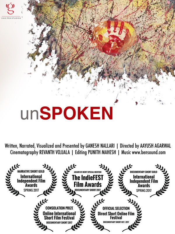 unSPOKEN (Trailer) - Best Audience Choice Award OF The Month (OCTOBER 2017)