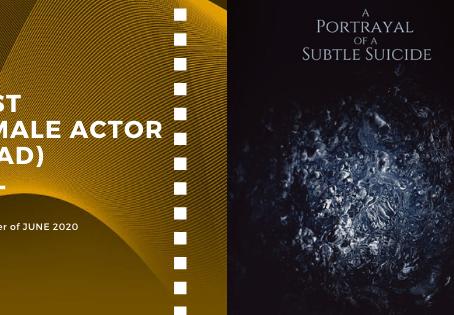 Golden Earth Film Award's Best Female Actor winner of June 2020 Edition