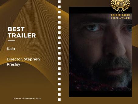 Golden Earth Film Award's Best Trailer winner of December 2019 Edition