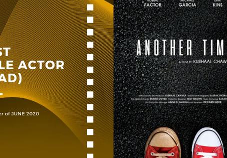 Golden Earth Film Award's Best Male Actor winner of June 2020 Edition