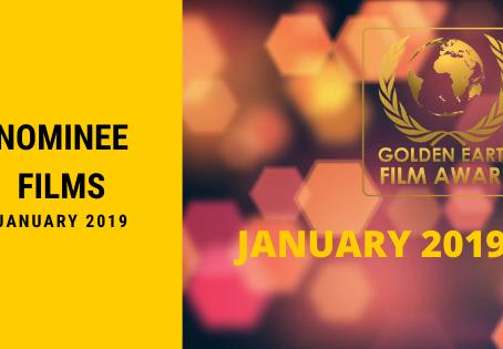 Golden Earth Film Award Nominees of January 2019.