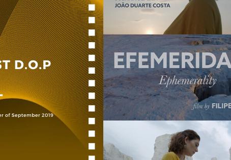 Golden Earth Film Award's Best D.O.P winner of September 2019 Edition