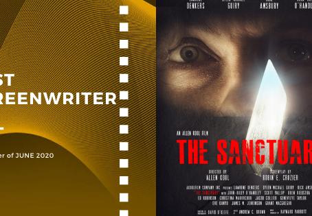 Golden Earth Film Award's Best Screenwriter winner of June 2020 Edition