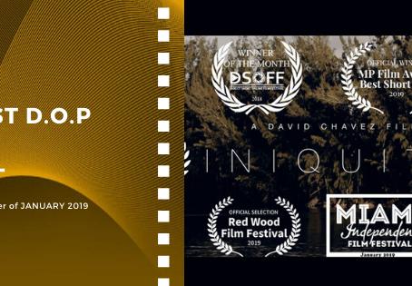 Golden Earth Film Award's Best D.O.P winner of January 2019 Edition