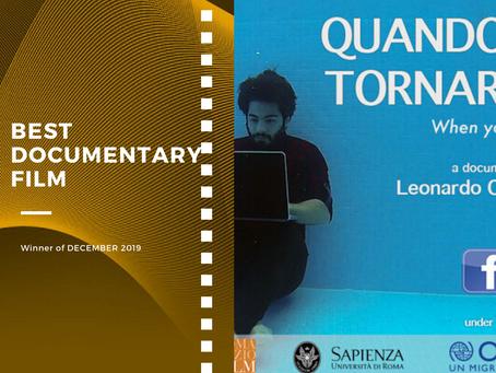 Golden Earth Film Award's Best Documentary Film winner of December 2019 Edition