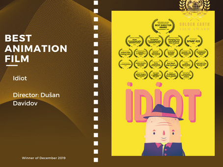 Golden Earth Film Award's Best Animation Film winner of December 2019 Edition