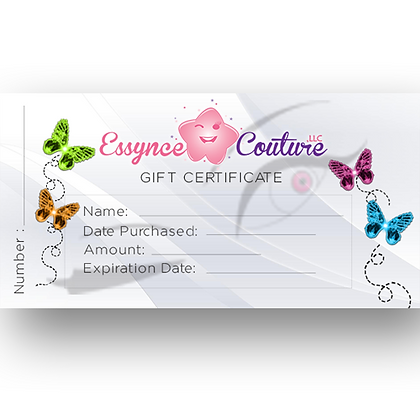 $80 Essynce Couture Gift Certificate