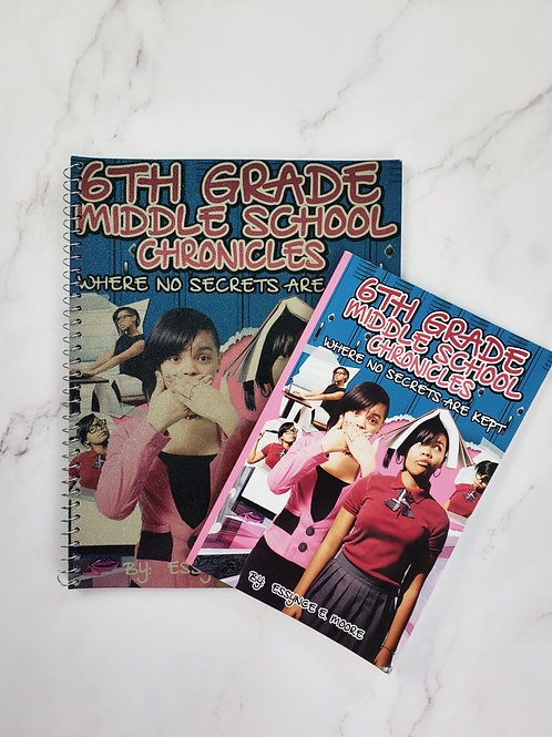 6th Grade Middle School Chronicles BOOK and NOTEBOOK