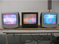 skotographic skotography multiple screen television art installation abstract mind control