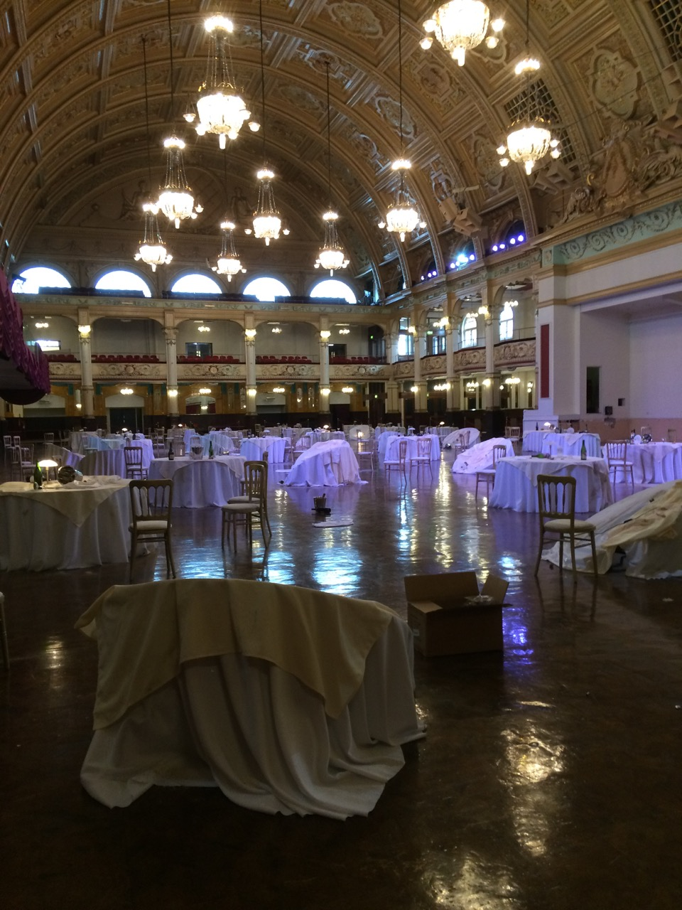Th Ballroom being prepared