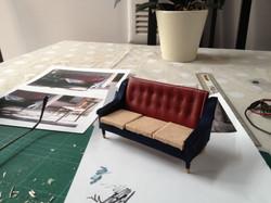 Making the  sofa
