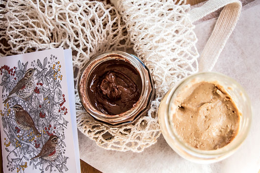nut butter, chocolate spread, vegan, zero waste, sustainability