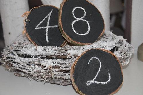 Tischnummern Tafellack Zahlen Vintage 20 x