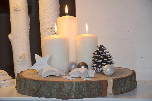 Adventskranz Baumscheibe Weihnachten Advent + Deko