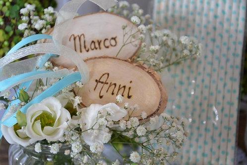 Namensschild Tischkarte Hochzeit Gastgeschenk oval